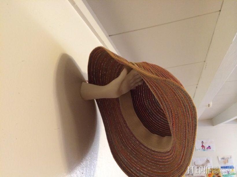 手型帽架 3D打印模型渲染图