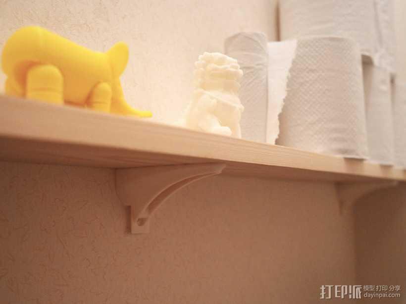 壁挂式搁板支架 3D打印模型渲染图