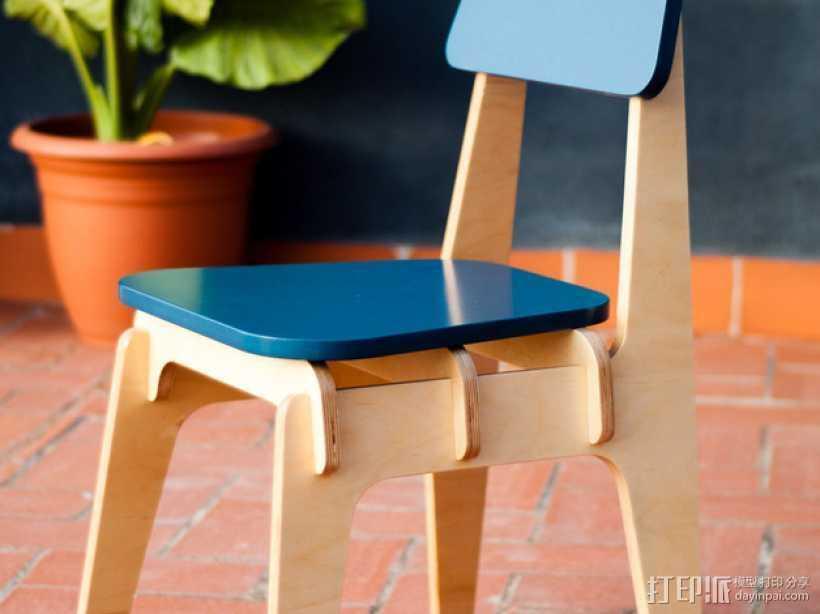 数控切割迷你椅子 3D打印模型渲染图