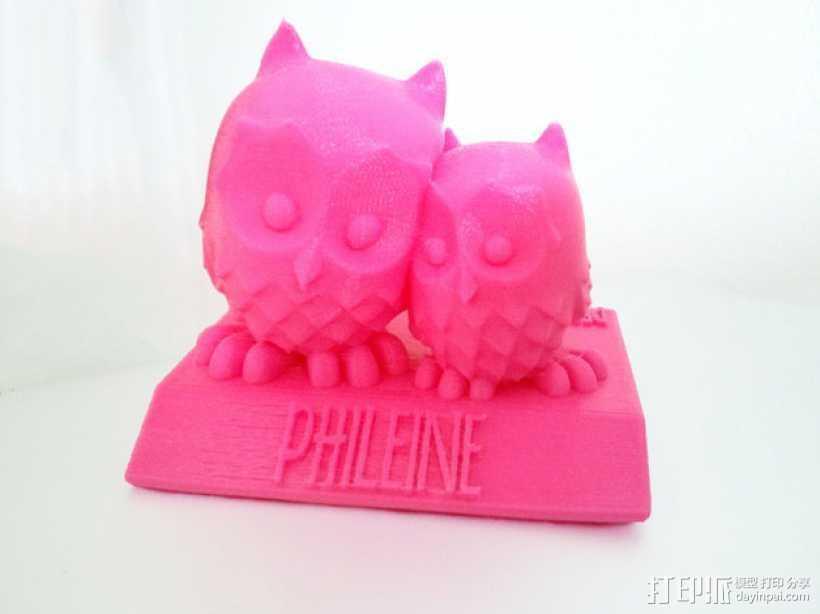 生日礼物:定制化猫头鹰 3D打印模型渲染图