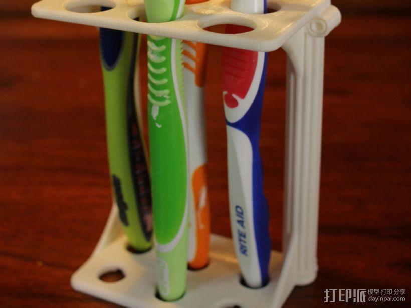 古典牙刷架 3D打印模型渲染图