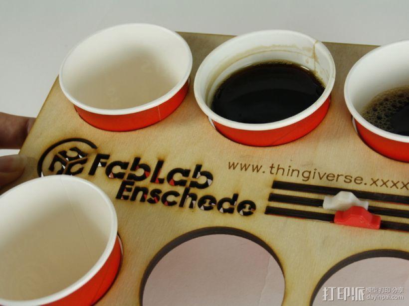 办公室咖啡托盘 3D打印模型渲染图