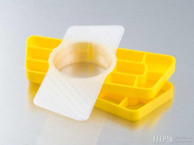 旋转多层托盘 3D打印模型渲染图