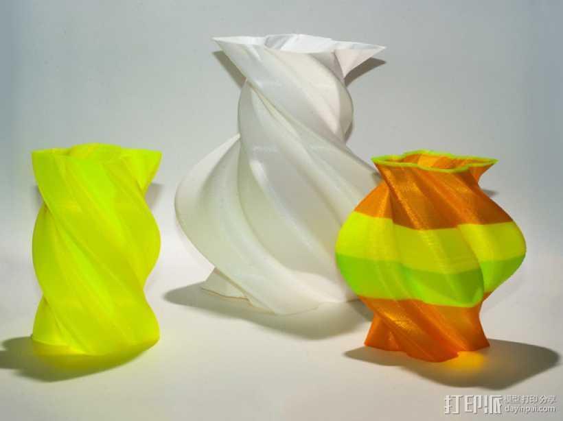 螺旋形花瓶 3D打印模型渲染图