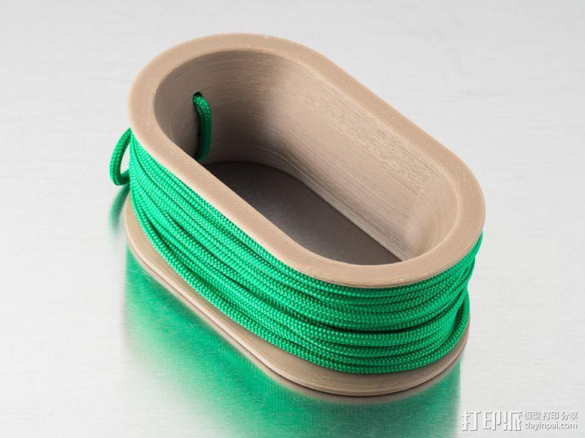 椭圆形线轴/把手 3D打印模型渲染图