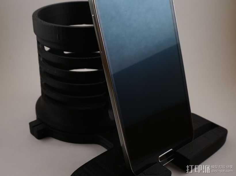 笔筒&手机架 3D打印模型渲染图