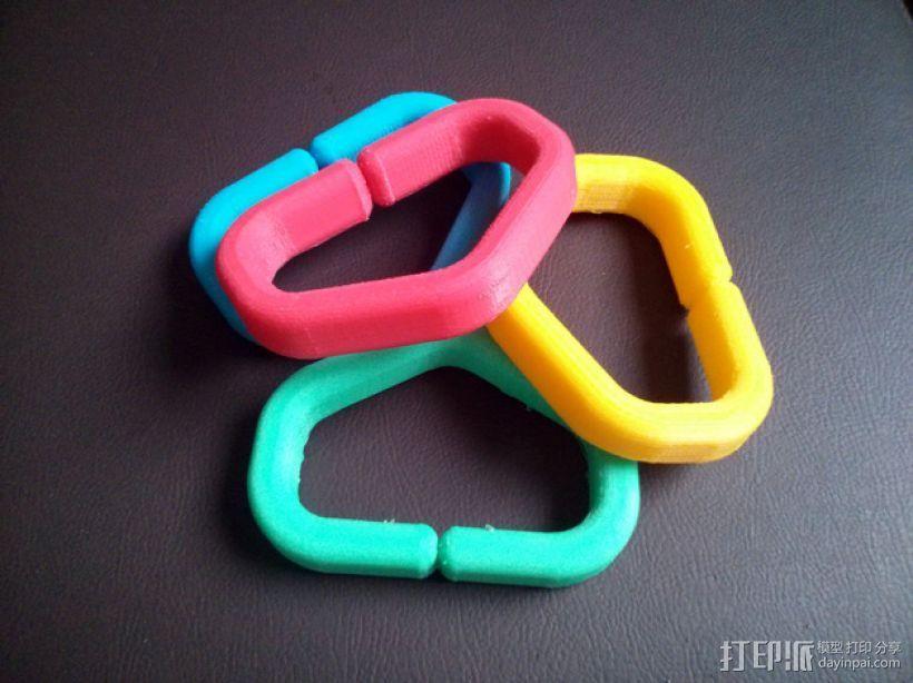塑料购物袋夹袋器/把手 3D打印模型渲染图