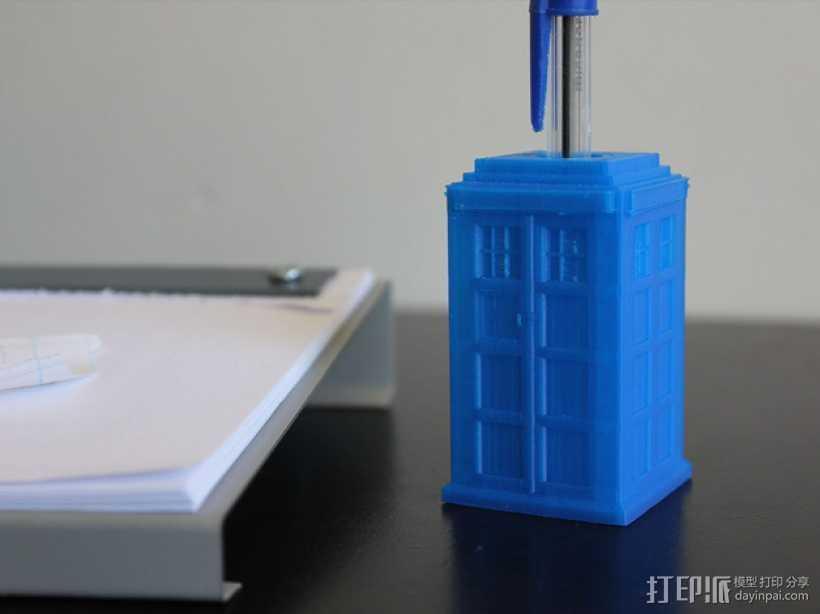 塔迪斯笔筒 3D打印模型渲染图