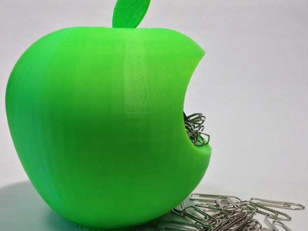 苹果形收纳盒 3D打印模型渲染图