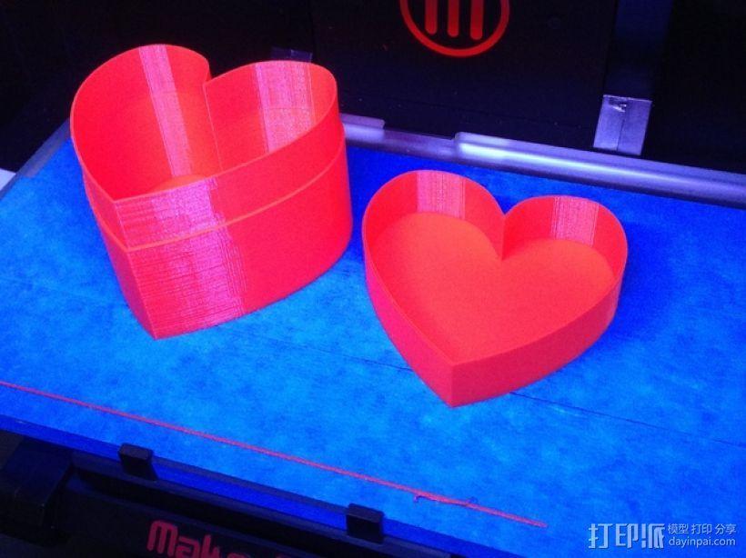 心形收纳盒 3D打印模型渲染图