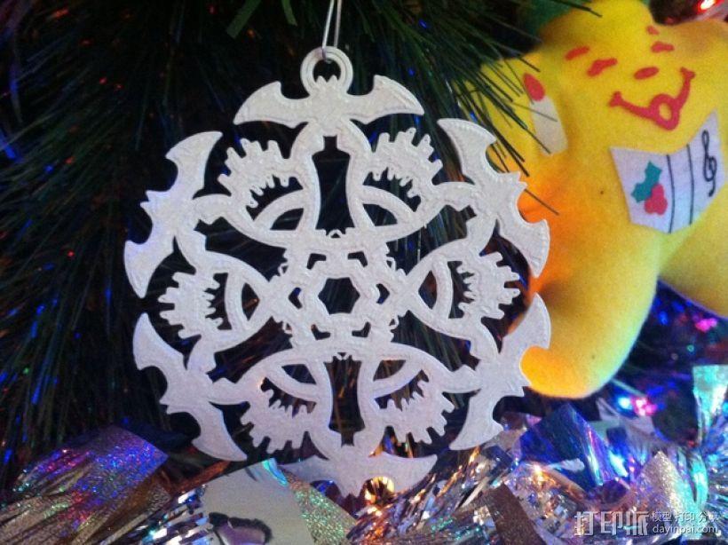 蝙蝠形雪花装饰品 3D打印模型渲染图