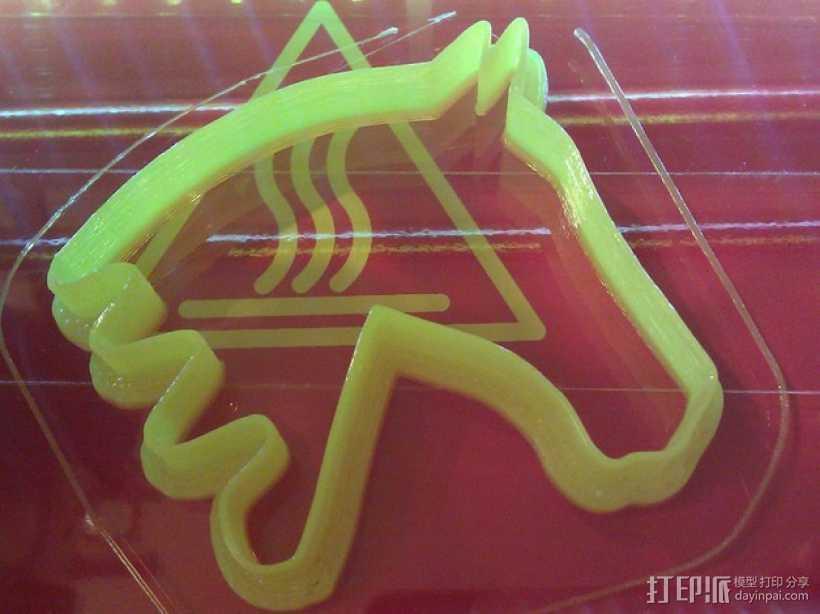 马形饼干模具切割刀 3D打印模型渲染图