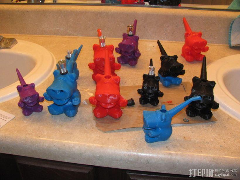 河马形吸烟用具 3D打印模型渲染图