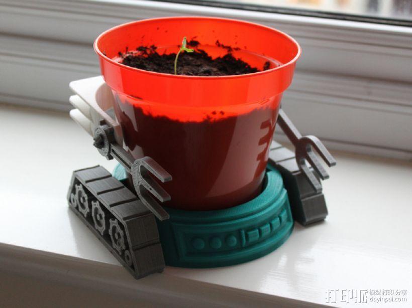 机械化花盆底座 3D打印模型渲染图