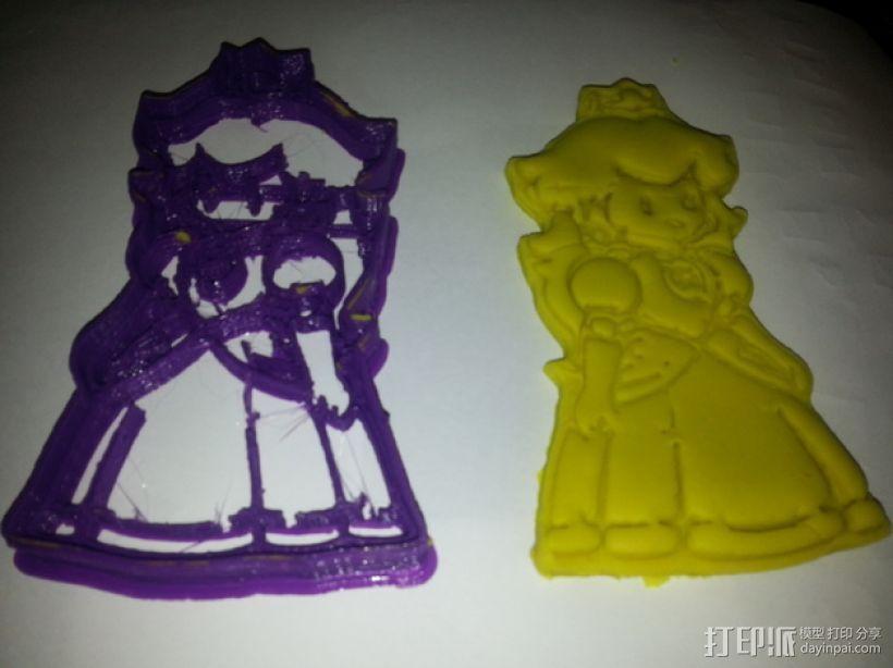 碧奇公主饼干模具切割刀 3D打印模型渲染图