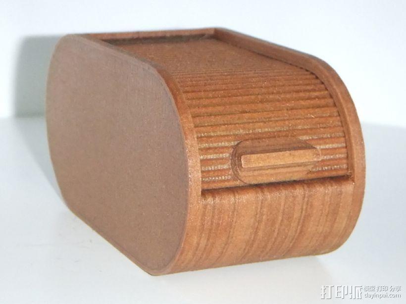 迷你椭圆形小盒 3D打印模型渲染图