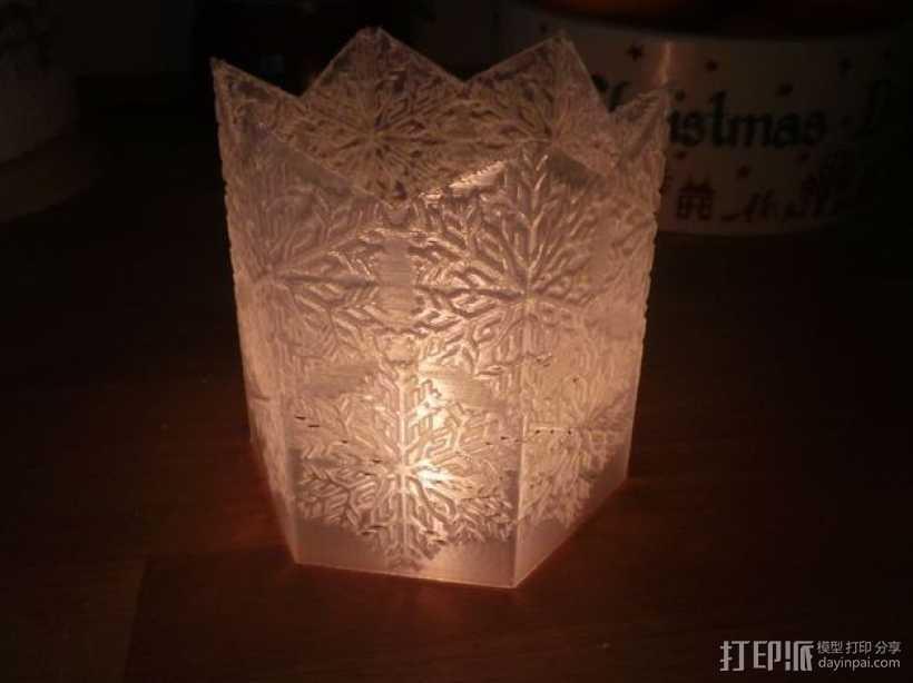 雪花形灯罩 3D打印模型渲染图