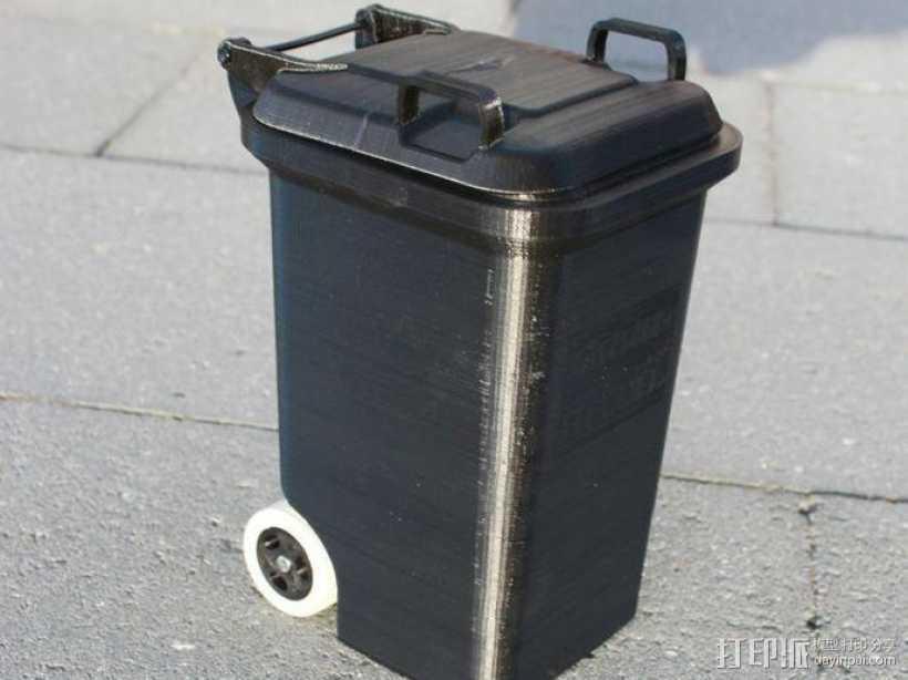 迷你垃圾桶 3D打印模型渲染图