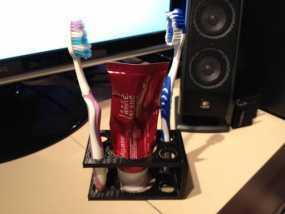 牙刷牙膏架