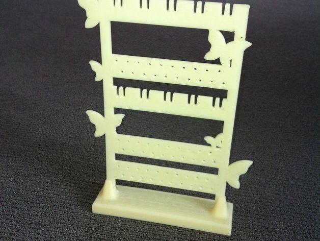 迷你耳环挂钩/架 3D打印模型渲染图