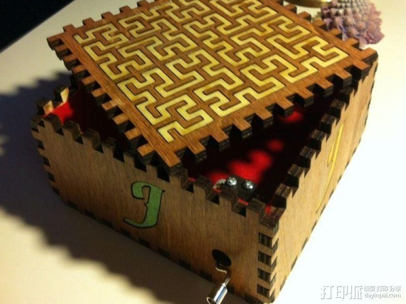 方形音乐盒 3D打印模型渲染图