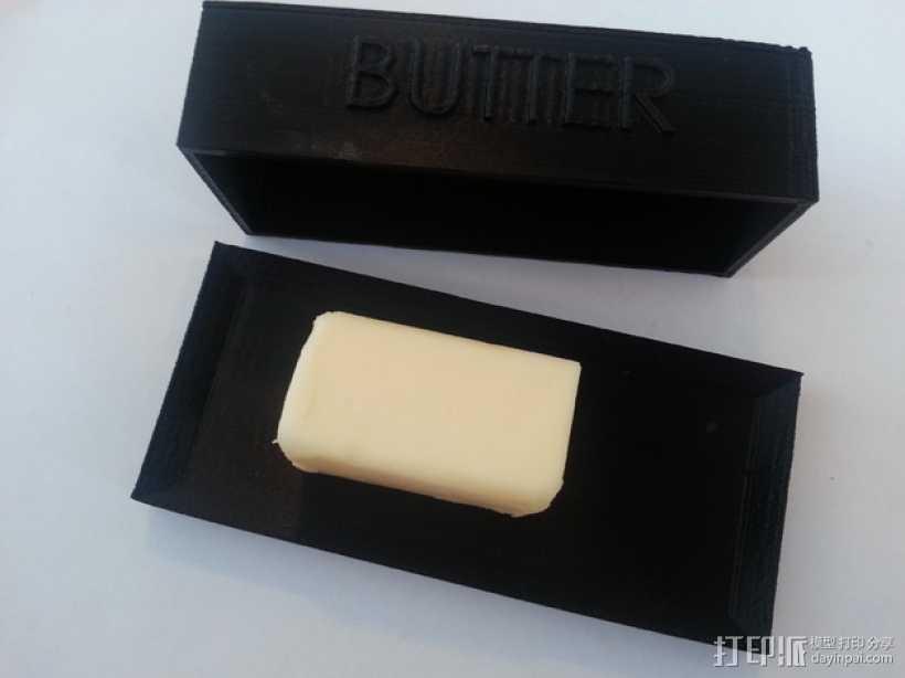 黄油盒 3D打印模型渲染图
