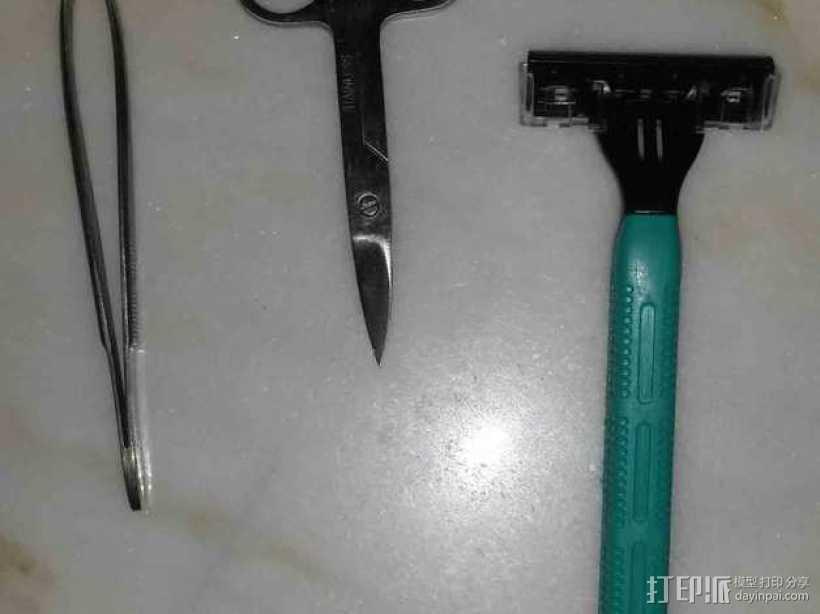 剃须刀/镊子/剪刀架 3D打印模型渲染图