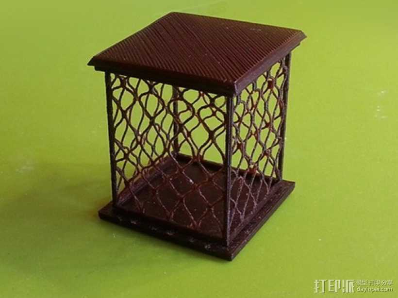 镂空四边形小盒 3D打印模型渲染图