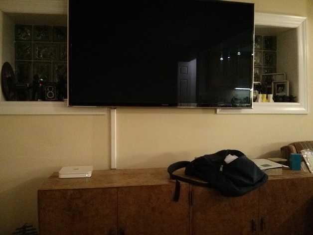 平板电视护线盖  3D打印模型渲染图