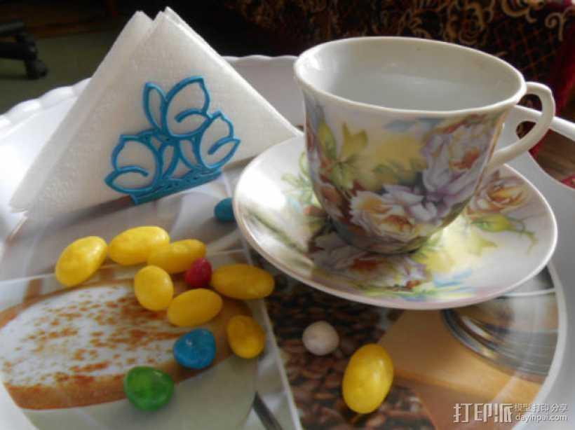餐巾架 3D打印模型渲染图