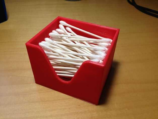 迷你棉签盒 3D打印模型渲染图