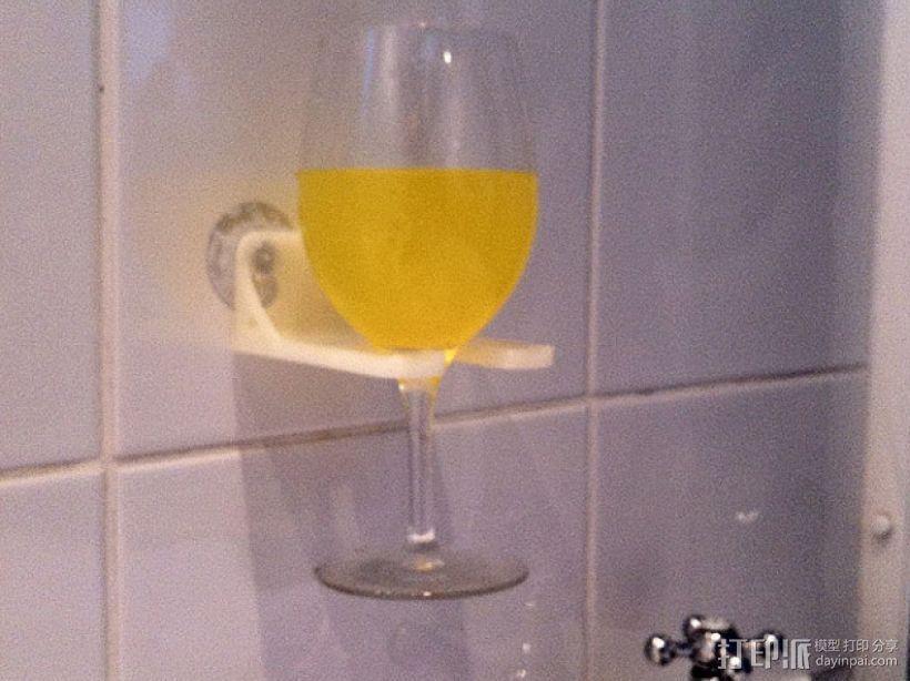 壁挂式酒杯架 3D打印模型渲染图
