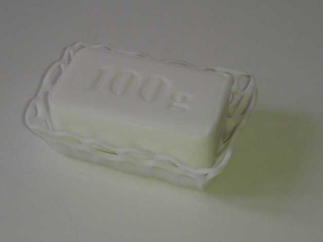 镂空肥皂盒 3D打印模型渲染图