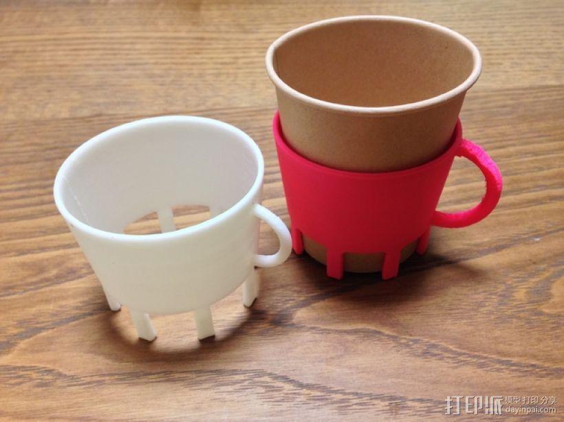 纸杯杯架 3D打印模型渲染图