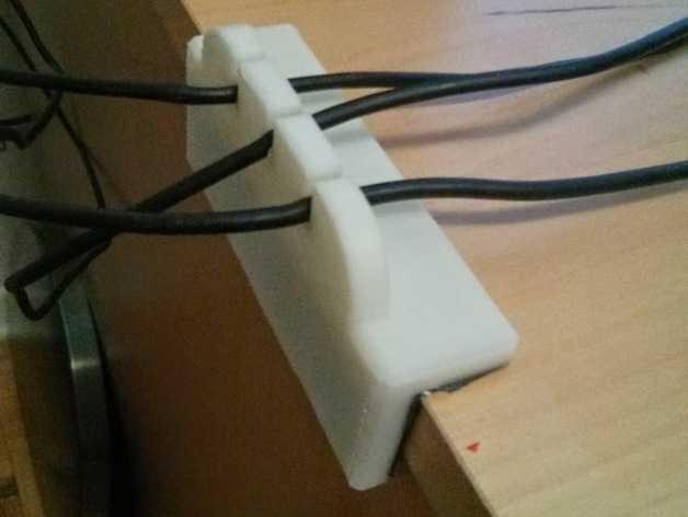 简易USB线缆夹 3D打印模型渲染图