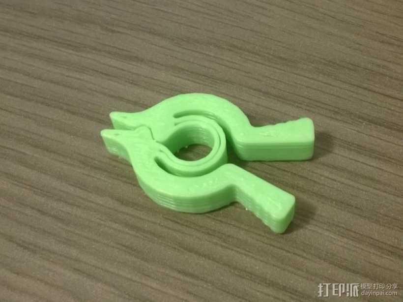 个性化夹子 3D打印模型渲染图