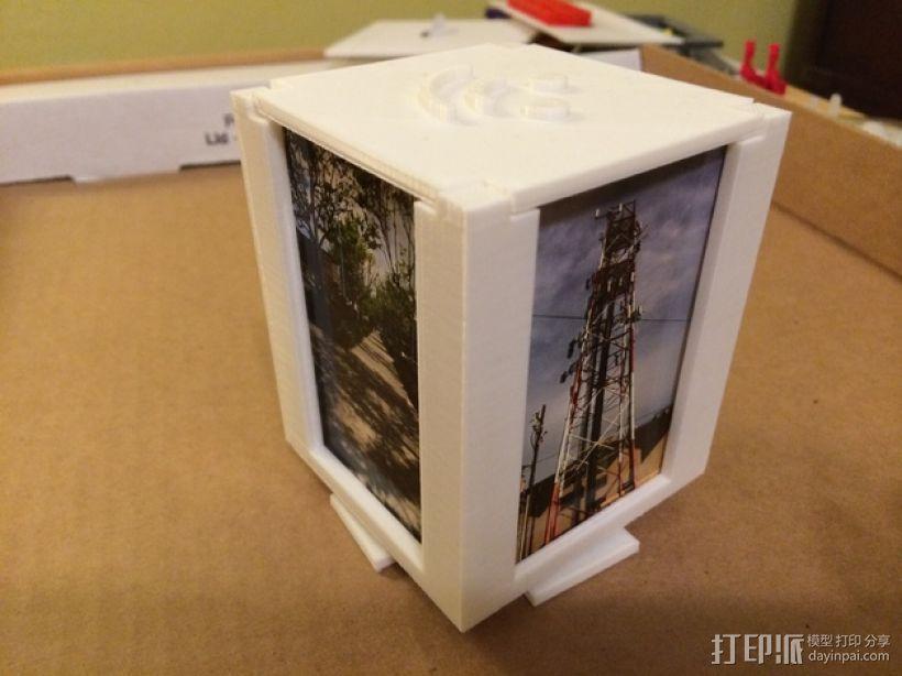 可旋转的照片盒 3D打印模型渲染图