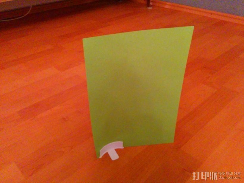 简易菜单夹/纸夹 3D打印模型渲染图