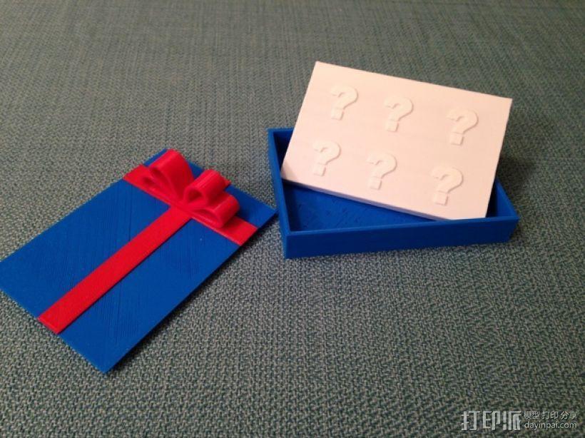 贺卡收纳盒/礼物盒 3D打印模型渲染图