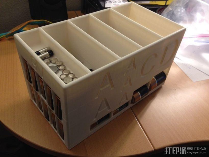 大尺寸电池盒 3D打印模型渲染图