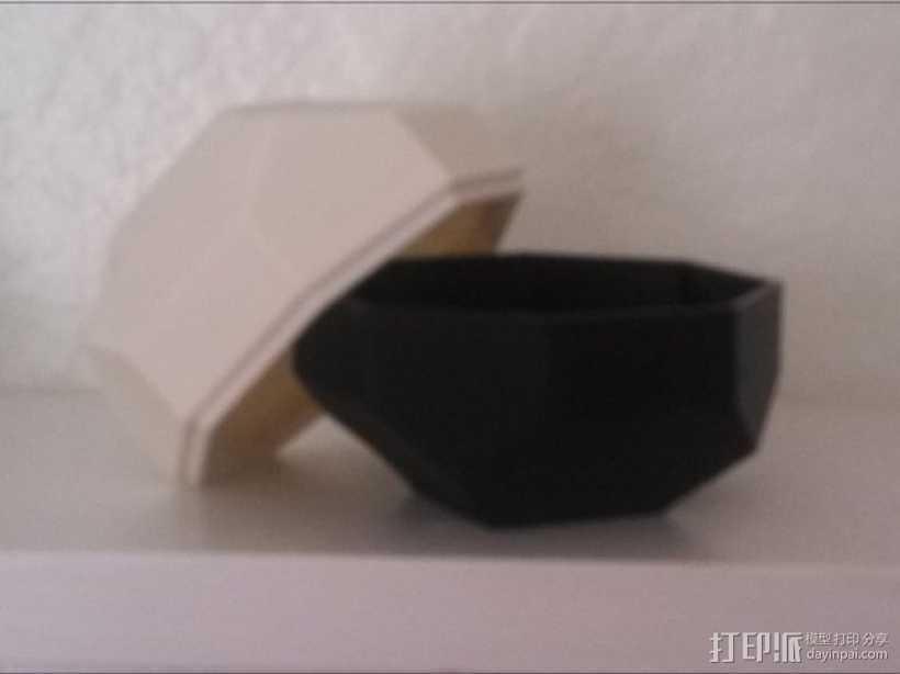 带盖的几何形盒子 3D打印模型渲染图