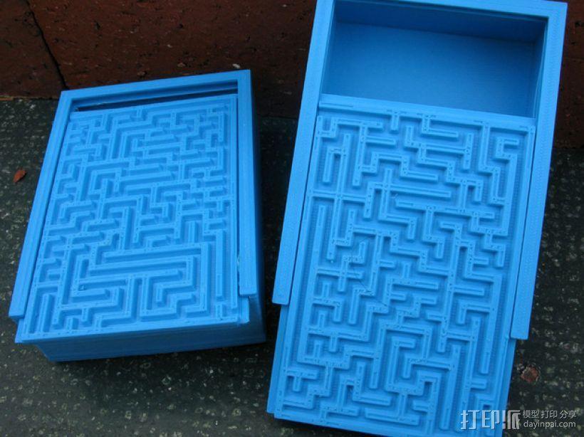 装饰性迷宫形小盒 3D打印模型渲染图