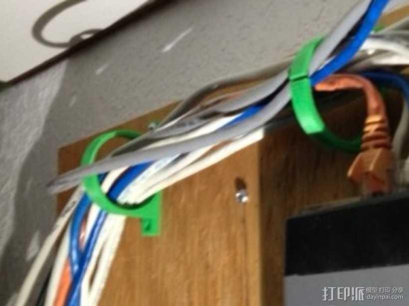 参数化电线线缆夹 3D打印模型渲染图
