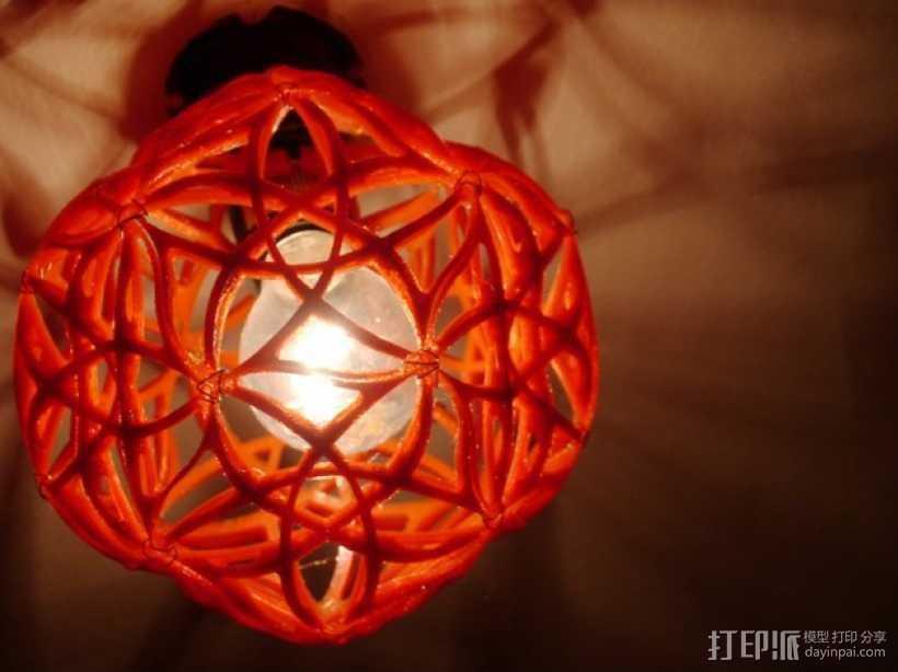 十二面体镂空灯罩 3D打印模型渲染图