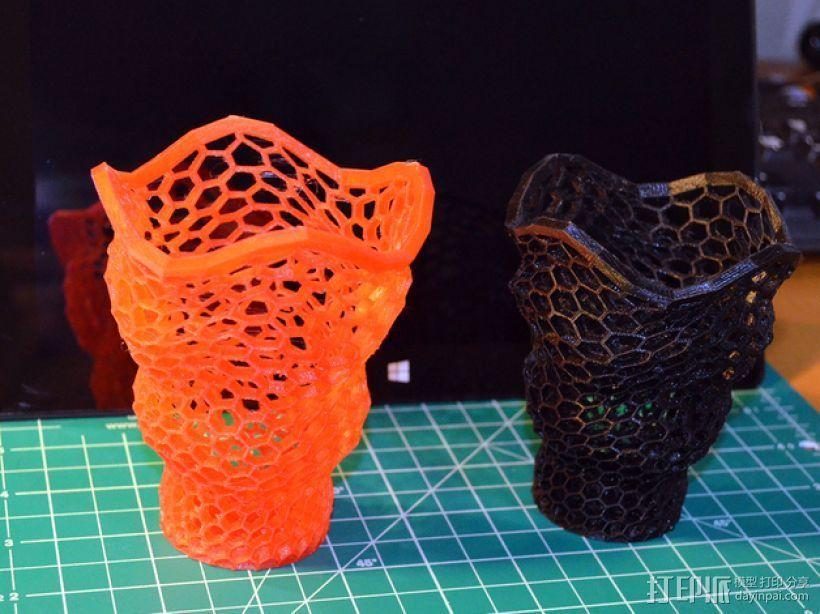 个性化镂空笔筒 3D打印模型渲染图