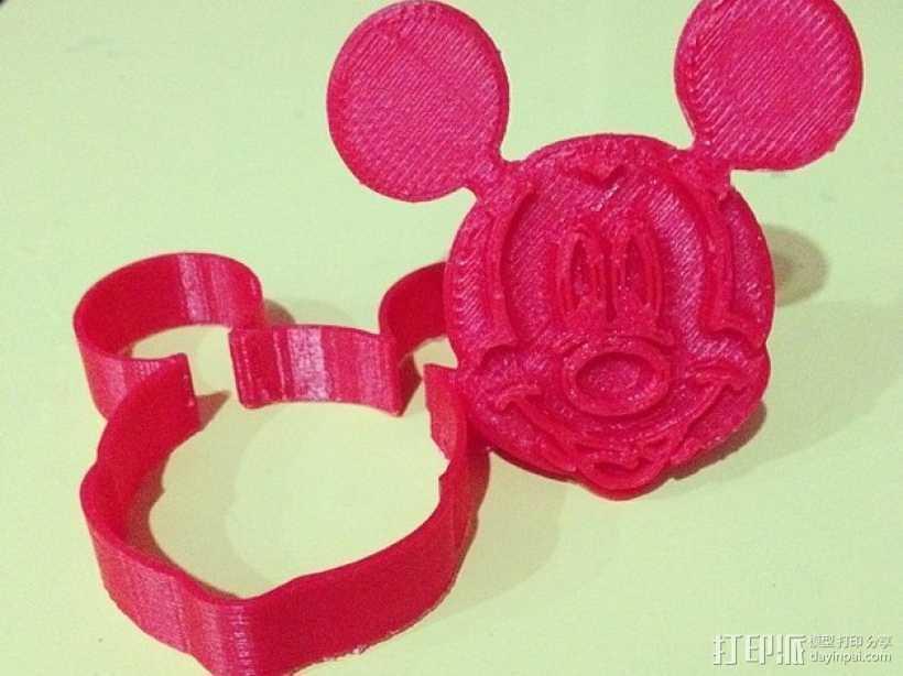 米奇饼干模具切割机 3D打印模型渲染图