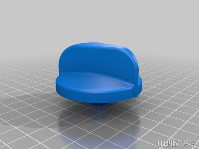 火炉旋转钮 3D打印模型渲染图
