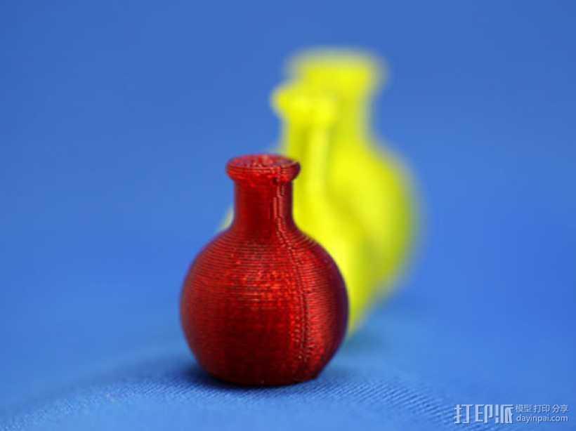迷你药水瓶 3D打印模型渲染图