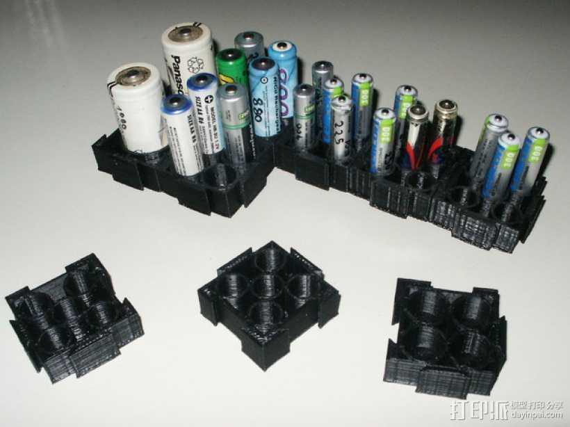 模块化电池盒 3D打印模型渲染图
