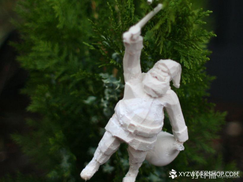 圣诞树装饰品:圣诞老人 3D打印模型渲染图